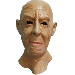 $enCountryForm.capitalKeyWord Australia - Realistic Old Man Mask Halloween Male Head Mask Party Dress Up People Face Mask