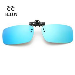 Prescriptions Sunglasses UK - Rectangle Clip On Polarized Sunglasses Men Women Oversized Sun Glasses Driving Lens for Prescription Glasses UV400 with Boxes