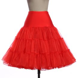 China tutu tulle skirt Women Fashion High Waist Pleated skirts womens Retro Vintage Petticoat Crinoline Underskirt Faldas tul Skirt cheap wholesale petticoat skirt suppliers