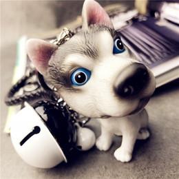 $enCountryForm.capitalKeyWord Australia - TrinketSea Trendy Cute Dog Pendant Keychain Key Rings Resin Siberian Husky Keyrings Bell Drop Fashion Bag Accessories Ornament