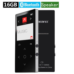 touch screen music player 2019 - HiFi MP3 Player Bluetooth Speaker 16GB Lossless Sound Music Player FM Radio Audio Play Metal Touch Screen Mp3 Music disc