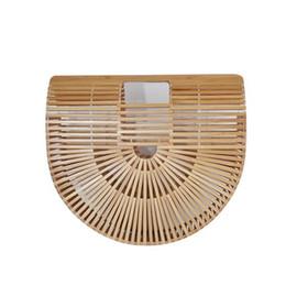 $enCountryForm.capitalKeyWord NZ - Chinese style Summer Bamboo Bag Women Beach Bag Female Handmade Woven Beach Handbags Bamboo Totes Travel Hand Bags bolso bambu