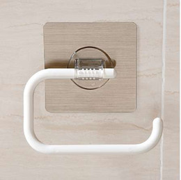 Wholesale Magic Sticker Wall Mounted Toilet Paper Holder Kitchen Bathroom Accessories Towel Rack Roll Paper Holder SQ