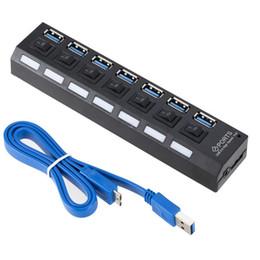 USB HUB 3.0 4/7 порты Портативный микрофон USB 3.0 HUB Splitter для ПК с высокой скоростью 5 Гбит / с USB Splitter HUB