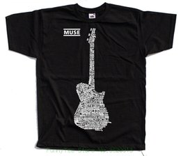 black s guitar Australia - Muse V2 , Matthew Bellamy , Guitar Logo All Titles T shirt ( Black ) S 5xl