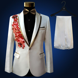 $enCountryForm.capitalKeyWord Canada - Plus Size high quality Vintage Medieval White Embroidered with diamonds stage performance singer Suit & Blazer Costumes S-3XL For 2017