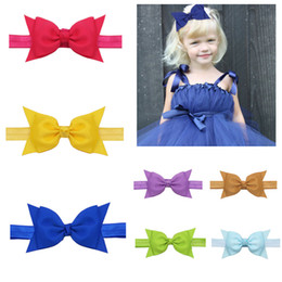 $enCountryForm.capitalKeyWord Australia - 20 colors baby girl candy color hair bow headband Hair bowknot Child Headwear Kids hairband kids Baby Hair Accessory