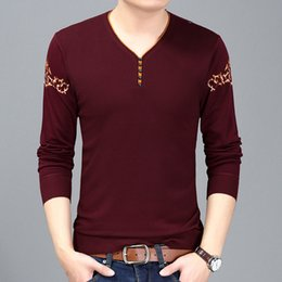 $enCountryForm.capitalKeyWord NZ - Men 2018 New Sweater Pullover Autumn Male Brand Casual Slim Sweaters Men High Quality Hedging V-Neck Casual Sweaters