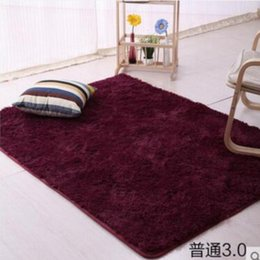 Discount room sized rugs - 160*200cm Large Size Plush Shaggy Soft Carpet Area Rugs Slip Resistant Floor Mats For Parlor Living Room Bedroom Home Su
