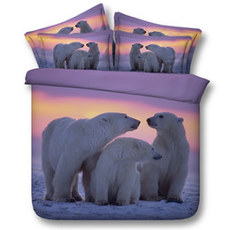 $enCountryForm.capitalKeyWord NZ - 3D sunset Polar bear bedding sets animal duvet cover silver bedspreads comforter cover Bed Linen Quilt Covers for adults teens boys kids men