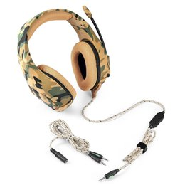 e basses NZ - Headband type color computer game contest wired with wheat Camouflage color E-sport headphone heavy bass stereo HD Voice headset