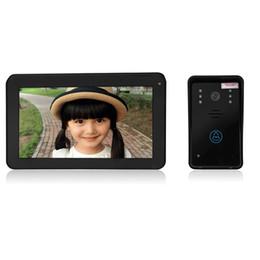 $enCountryForm.capitalKeyWord Australia - SY906A11 9 Inch TFT Screen Hands Free Intercom Doorbell 2,4GHZ touch key 7'' gsm access control door camera record