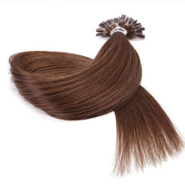 Keratin Bonded Hair Australia - Pre Bonded U Nail Tip Human Hair Extensions Black Brown Blonde Piano 50Strands 100Strands 1g s Keratin Remy U Tip Hair products