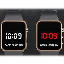 Date female online shopping - Fashion LED Watches Men Women Sports Digital wristwatches Calendar Date Silicone waterproof watch Mirror Alarm Clock Wrist Watch