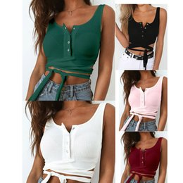 Official Website Womens Sexy Sleeveless Chiffon Summer Breathable Tank Crop Tops Bandage Vest Casual Blouse Canottiere Donna@30 Uhren & Schmuck