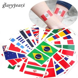 $enCountryForm.capitalKeyWord NZ - 2018 Russia World Cup National Banner Flags Tattoo Temporary Football Sports Funs Watching Game Body Sticker Glary Years 100 Sheets 6*8cm