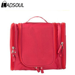 H Case Australia - LADSOUL Bag Women Cosmetic Cases PVC Female Business Bag Family Clothes Make Up Bags More Pockets Women Cosmetic Bags A3997 h