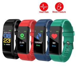 Discount swatch touch - Color Display Screen ID115 Plus Smart Wristband Heart Rate Monitor Blood Pressure Watch Pedometer Fitness Tracker Bracel