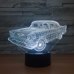 $enCountryForm.capitalKeyWord Australia - Car 3D Optical Illusion Lamp Night Light DC 5V USB Powered 5th Battery Wholesale Dropshipping Free Shippin