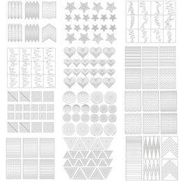 online shopping China sticker Suppliers Sheet Sticker Guide Tips Large Star Heart Stripe Hollow Stencils Nail Art French Tips Form Fringe DIY Decor