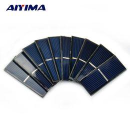 $enCountryForm.capitalKeyWord Canada - diy AIYIMA 10pcs Panel Solars Cell 0.5V 220mA Photovoltaic Panel DIY Solar Battery Car Charger Power Bank China 55*22*3mm