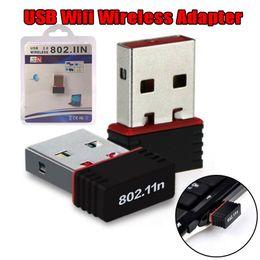 Wireless Lan Antennas Australia - Mini PC WiFi adapter 150Mbps USB WiFi wireless antenna computer network card 802.11n   g   b LAN + antenna WiFi adapters wi-fi antenna