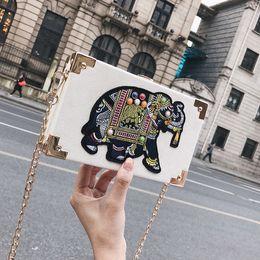 $enCountryForm.capitalKeyWord NZ - Women Handbags Luxury Designer Totes Elegant PU Elephant Embroidery Flap Simple High Quality Leather Totes Women Messenger Bag