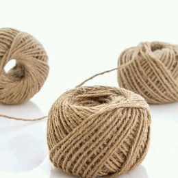 PaPer twine online shopping - 1Roll M burlap Rope Natural Jute Twine Burlap String Hemp Rope Wedding Gift Wrapping Cords Thread Colors Happy Easter
