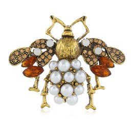 $enCountryForm.capitalKeyWord UK - 2018 New Model Europe and America Christmas Gift Hot Sale Jewelry Export Exquisite Wild Epoxy Glaze Pearl Brooch