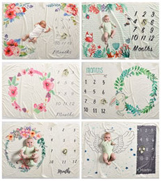 Free photography backgrounds online shopping - EMS free baby flannel blankets fleece floral unicorn swaddle blankets wraps soft newborn photography background props infant photo backdrops