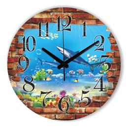 Wall Watch Silent Canada - Modern 3D Shark Wall Decoration Watch Safe And Silent Wall Clock For Children Room Decoration Home Decor Best Gift