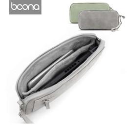 Vente en gros Boona PU Sac de rangement en velours pour Nintendo Switch Accessoires électroniques Sac de rangement numérique Étui de protection