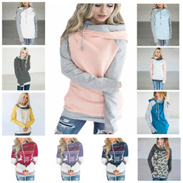1e648dc58e42 Side Zipper Hooded Hoodies Women Patchwork Sweatshirt 16 Colors Double Hood  Pullover Casual Hooded Girls Tops Gym Clothing 12pcs