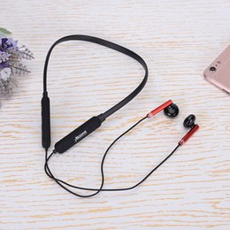Discount neck phone bluetooth - New Cable Bluetooth Headset Earphone Heavy Bass Hanging Neck Type Sports Music Stereo Bluetooth Earphone with Box Packag