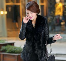 Body Warmer Coats Canada - In stock New Womens Body slim Faux Fur Coat with Fur Collar Winter Warm Long sleeve Warm Coat Outerwear Free Shipping WT15