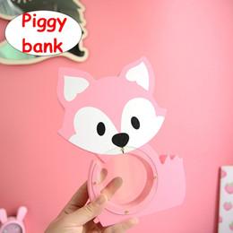 $enCountryForm.capitalKeyWord NZ - Wooden Cartoon fox Piggy Bank INS Children Cute Money Coin Box Home Decorations Kids birthday gift