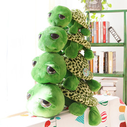 Giant stuffed toy animals online shopping - Cartoon Plush Toys Green Giant Eyed Turtle Stuffed Animal Tortoise Doll Pillow Baby Toy Holiday Gift tt WW