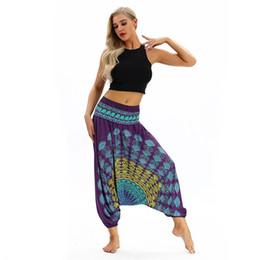 Harem Jumpsuits Women Australia - Leggins Sport Women Fitness Loose Yoga Trousers Baggy Aladdin Jumpsuit Harem Pants Yoga Pants calzas deportivas mujer fitness