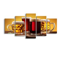 Art Canvas Prints NZ - 5 pieces high-definition print beer canvas oil painting poster and wall art living room pictur PJ-003