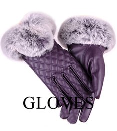 Thick Leather Gloves Australia - Ladies' touch lovely leather gloves thick and warm bicycle gloves in autumn and winter.