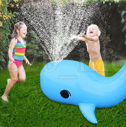 inflatable animals for pool 2019 - Inflatable Dolphin water toy Yard Sprinkler Outdoor Sport Splash Toy for Kid Water Sprinkler Spraying Play Summer Pool A