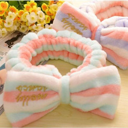 067e97f6052 5 pcs Sweet Girls Butterfly Knot Flannel Headband Towel Make up Wash Super  Elastic Bands Girls Headwear