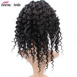 Discount cheap virgin hair 12 bundle - Hot Selling Brazilian Virgin Hair Deep wave 360 Frontal Lace Closure Free Part Cheap Brazilian Malaysian Indian Human Ha