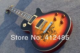 Brown guitar case online shopping - Slash Signature sunburst Electric Guitar In stock with case