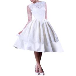 db2752460c6f Lunghi abiti da sera sexy online-Elegante abito da sera con maniche lunghe  in pizzo