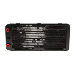 $enCountryForm.capitalKeyWord NZ - Aluminum Computer Radiator 240MM Water Cooling Radiator Water Cooler 18 Tubes Heat Exchanger CPU Led HeatSink For Laptop Desktop