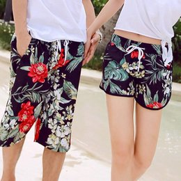 Men S Skirts Canada - Fashion-Nice New Men€s Shorts Flower Printed Causal Boardshorts Couple Summer Holiday Beach Shorts Short Masculino Beachwear