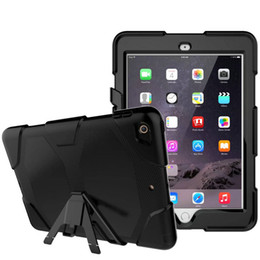 Chinese  Heavy Duty Case For iPad Mini 1 2 3 4 5 Air Pro 9.7 2017 2018 11.0 Rugged Impact Hybrid Armor Shockproof Cover Silicone PC Robot Armor Shell manufacturers