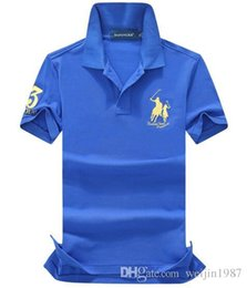 Shirt brandS china online shopping - 2018 high quality cotton China Brand Small Horse POLOS men s fashion Summer short sleeved POLO shirt casual men Designer POLOS TOP