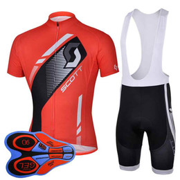 $enCountryForm.capitalKeyWord Australia - Scott team Cycling Short Sleeves jersey (bib) shorts sets summer style quick dry mtb bike sportswear men bicycle ropa ciclismo 92823J